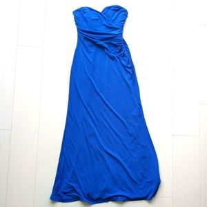 NWOT Strapless maxi dress gown